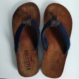 c1714fcca3dfc9 ... Hollister Shoes - SOLD Men`s HOLLISTER Leather Textile Flip Flop ...